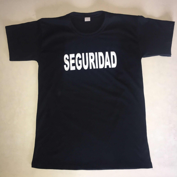 Remeras Seguridad Ó Control Doble Estampa/ Eventos Staff