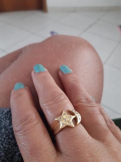 Anel De Ouro Com Pedras Preciosas