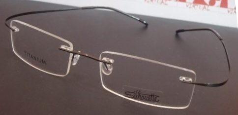 7b120ca7a Armação Oculos De Grau Silhouette Sem Aro Titanium Cinza - R$ 79,99 em  Mercado Livre