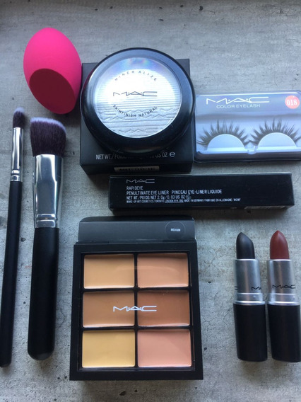 Lote Set Mac Contorno Strobing Labial Oscuros Dark Hot Sale