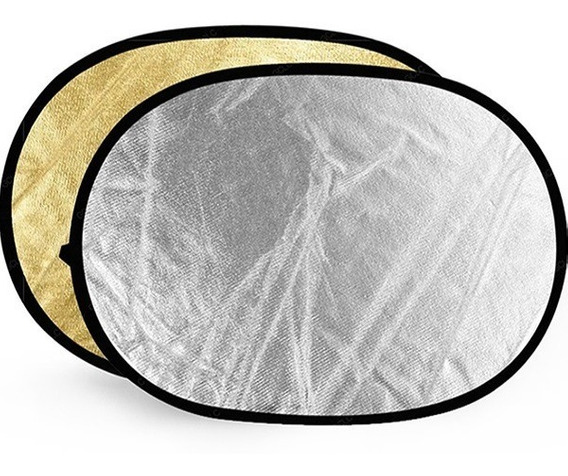 Rebatedor Oval 2x1 120x180 Cm Prata/dourado 120x180cm Case