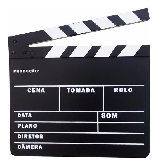Claquete Português Para Estúdio De Cinema Tv Decoração Etc