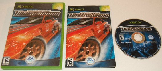 Need For Speed Underground X-box Americano Completo! Jogão!