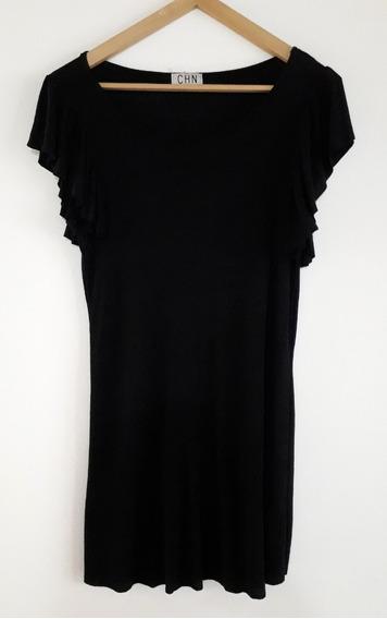 Vestido Volados Negro