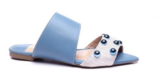 Sandálias Rasteiras Fashion Blue