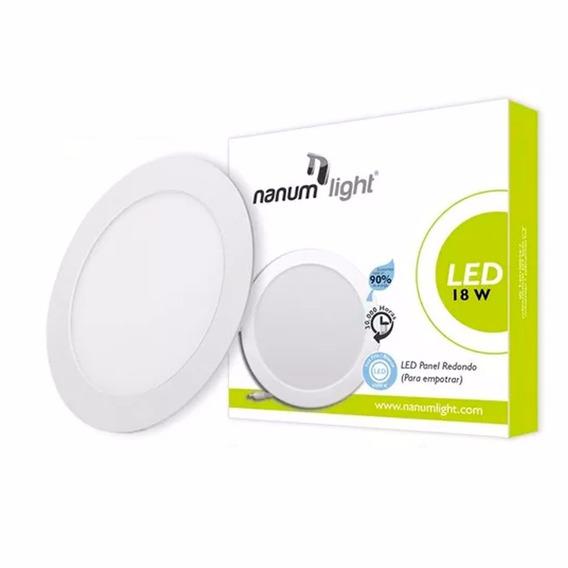 Lámpara Led Panel Redondo Para Empotrar 18w 6500k Nanumlight