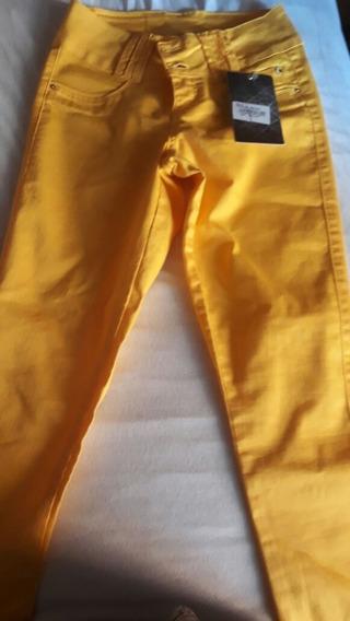 Calça Darlook Color Amarela Neriane Tam 40luxo Face Top Copa