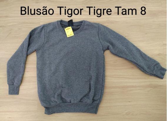 Blusão Infantil Menino Moletim Tigor Tigre Tamanho 8