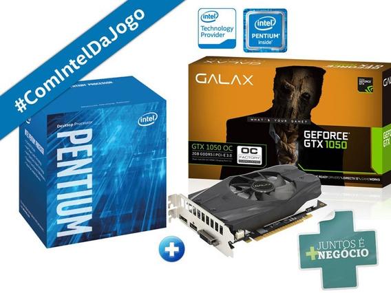 Kit Processador Intel Pentium G4560 + Gtx 1050 Galaxy 2gb