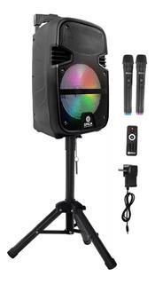 Parlante Portátil Spica Bluetooth Karaoke Microfono Tripode