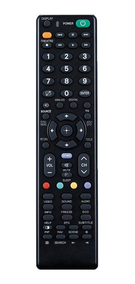 Controle Remoto Para Tv De Led Sony Preto Ac175 Multilaser