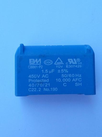 Capacitor Cbb61 1,5 Uf 450v Para Placa Ar Condicionado 2 Pçs