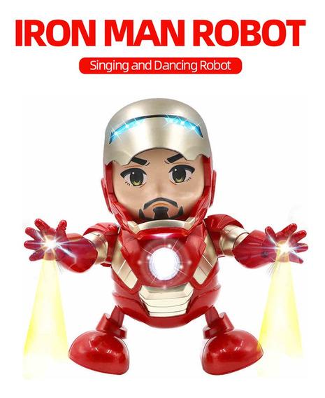 Dancing Singing Robot Avengers Iron Man Led Light Gift