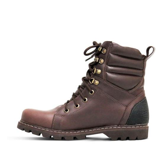 Boot Adventure Couro Pull Up Masculino Silverado Brown 37-44