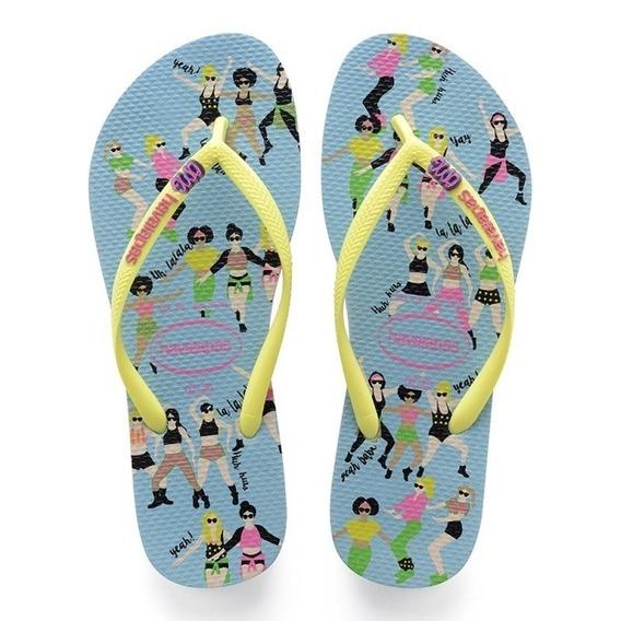 Sandalia Chinelo Slim Cool - Havaianas - Azul Splash