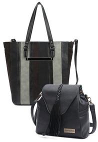 Kit 2 Bolsas Moda Feminina Reforçada Fashion Luxo Mormaii