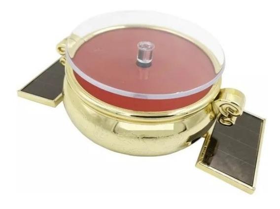 Display Giratório Dourado Expositor Luz Solar Relógios Joias