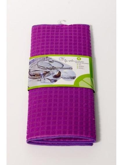 Paño Secaplatos De Microfibra Con Cuadros Ultraabsorvente
