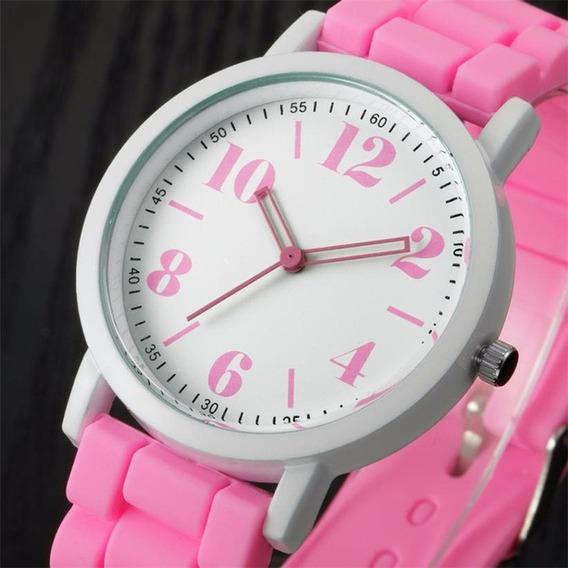 Relógio Feminino Esporte Casual Silicone #012