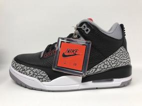 Tenis Jordan 3 Retro Black Cement 854262-001 25 Cm 7 Usa 5mx