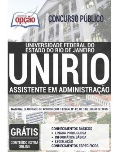 Livro Unirio 2019 - Assistente Administrativo