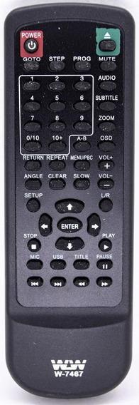 Controle Remoto P/ Dvd Mondial Cr-2840 Co1241 Wlw7467