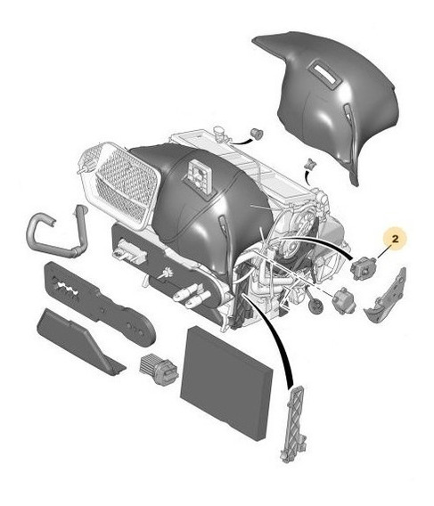 Motorreductor Climatizador Izquierda Peugeot 407 2.0 Hdi