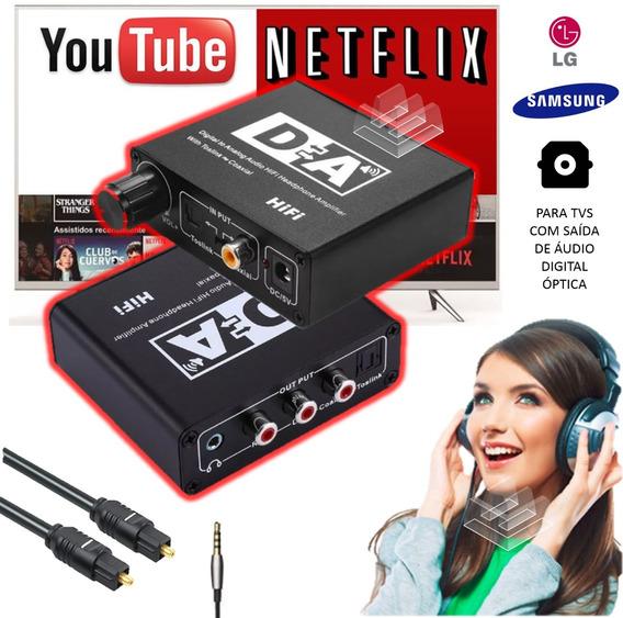 Como Ligar Fone De Ouvido A Smart Tv - Óptico X Rca P2 *