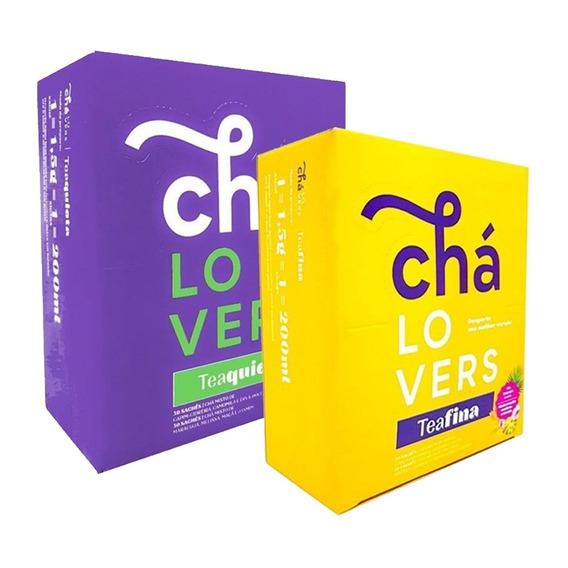 Chá Lovers - Caixa C/ 60 Sachês - Teafina + Teaquieta