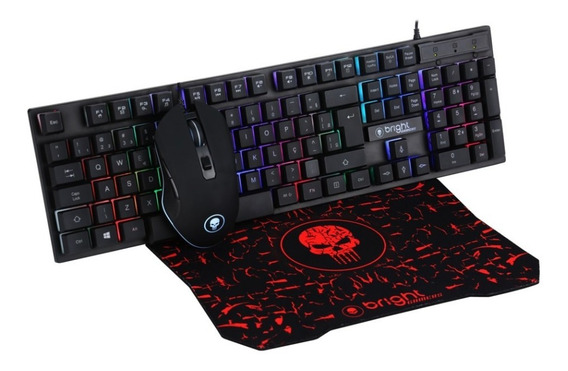 Combo Teclado + Mouse + Mouse Pad Gamer Bright 0542