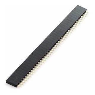 Tira De 40 Pines Hembra Paso 2.54mm Arduino