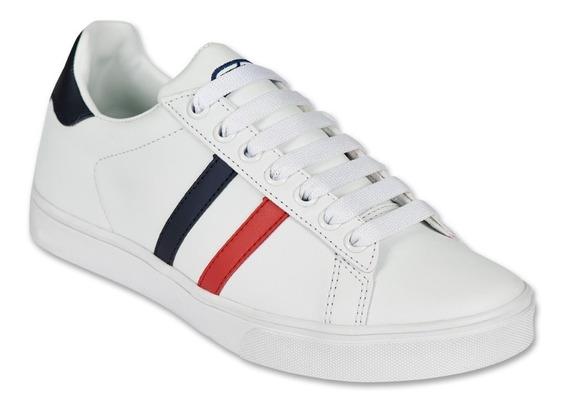 Calzado Juvenil Niño Tenis Moda Casual Tipo Piel Blanco Suav