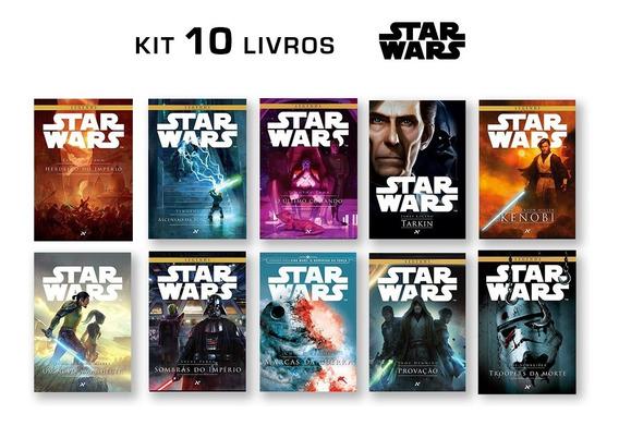 Kit Com 10 Livros Star Wars - Pronta Entrega