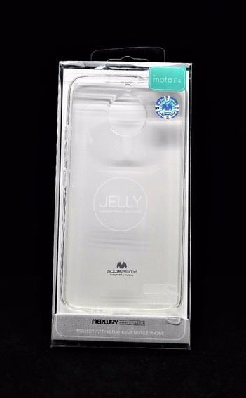 Funda Moto E4 Mercury Goospery Transparente Jelly Case