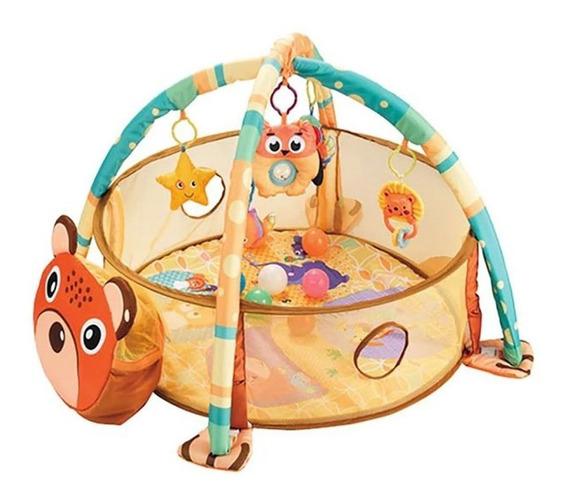 Tapete Infantil Baby Com Piscina De Bolinha Urso 3 X 1 Bebê
