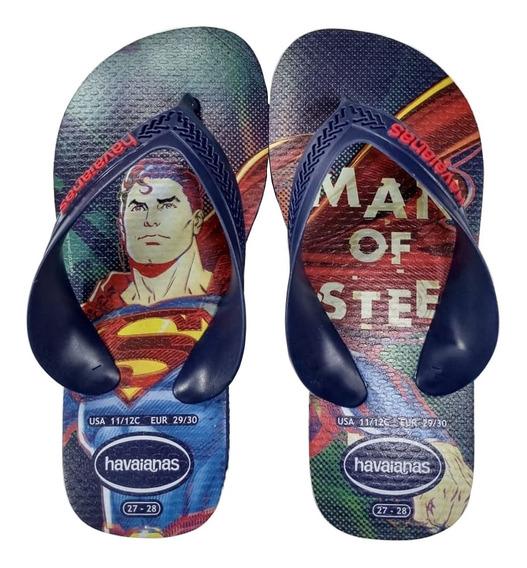 Chinelo Havaianas Superman Infantil Modelo 2021