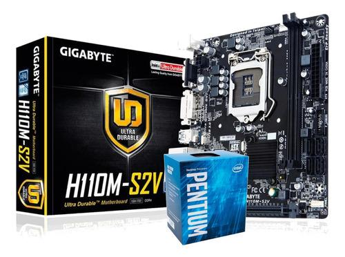Kit Processador Intel Pentium G4560 Ga-h110m-s2v