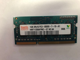 Sodimm Ddr3 De 1 Gb Para Laptop Pc3-8500s De 1066 Mhz