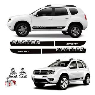 Kit Faixa Lateral Renault Duster Sport 14/19 + Adesivo Dakar