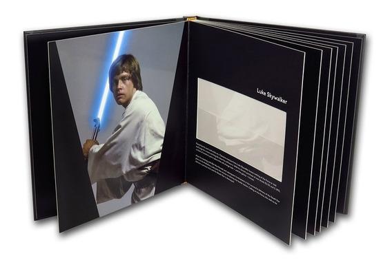 Star Wars Notas De Prata Pura .999 Luke Skywalker + Álbum