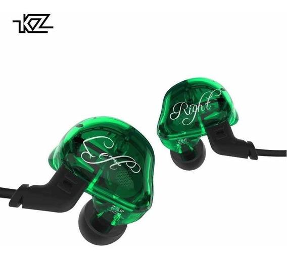 Zsr 6 Drivers + Bag Kz Zst Verde Retorn Palco Fone De Ouvido