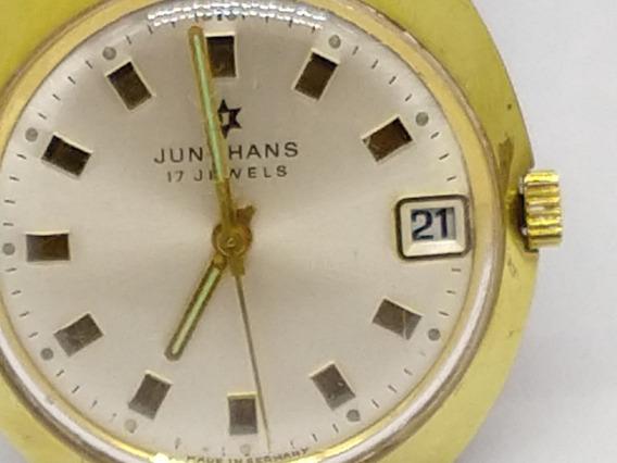 Relógio Jungnhas, Mecânico Manual, Banho De Ouro 1960