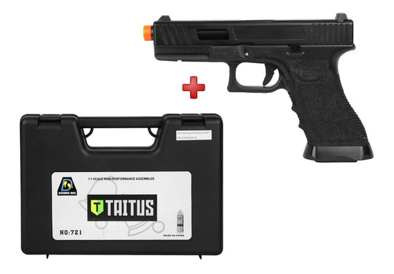 Pistola Airsoft Gbb Double Bell G17 744 Semi-metal + Case