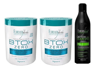 Kit 2 B-tox Zero 1kg E 1 Shampoo Detox - Forever Liss
