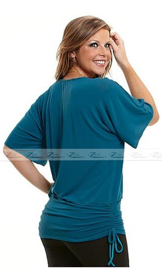 Blusa Feminina Plus Size Camiseta Em Malha Tamanhos Grandes