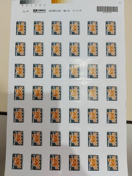 Cartela De Selos Coleção Carta Social 2011 Raro