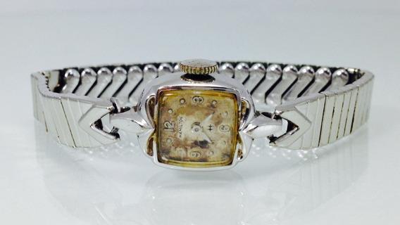Reloj Hamilton P/dama Caja Y Extensible De Acero (inv 630)
