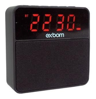 Caixa De Som Bluetooth Com Despertador Radio Fm Bluetooth