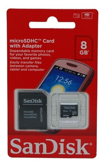 Memoria Sandisk De 8 Gb Nuevas Y Selladas En Su Blister