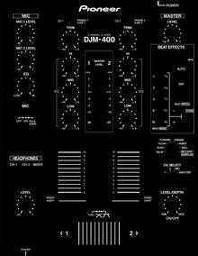 Skin Pioneer Djm 400 (adesivo Para Mixer)